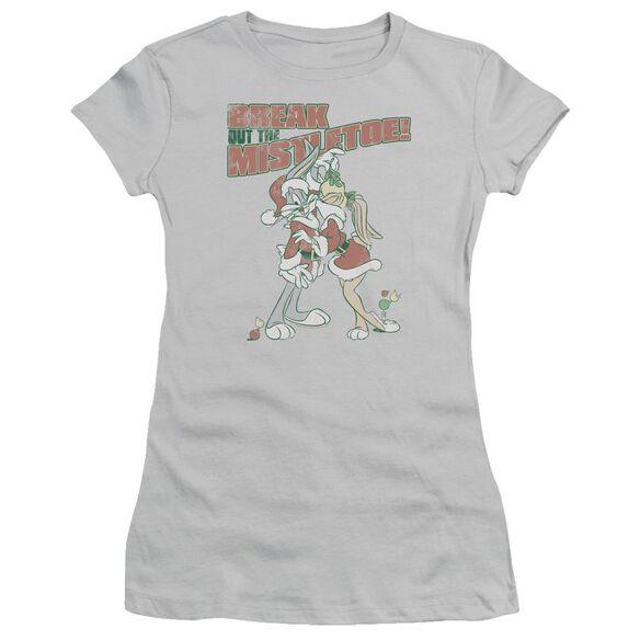 Looney Tunes Mistletoe Short Sleeve Junior Sheer T-Shirt