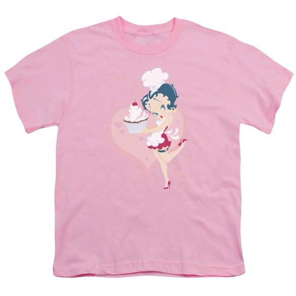 Betty Boop Cupcake Short Sleeve Youth T-Shirt