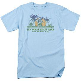 San Dimas Skate Park Short Sleeve Adult Light Blue T-Shirt