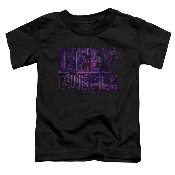 Deep Purple Spacey Short Sleeve Toddler Tee Black T-Shirt