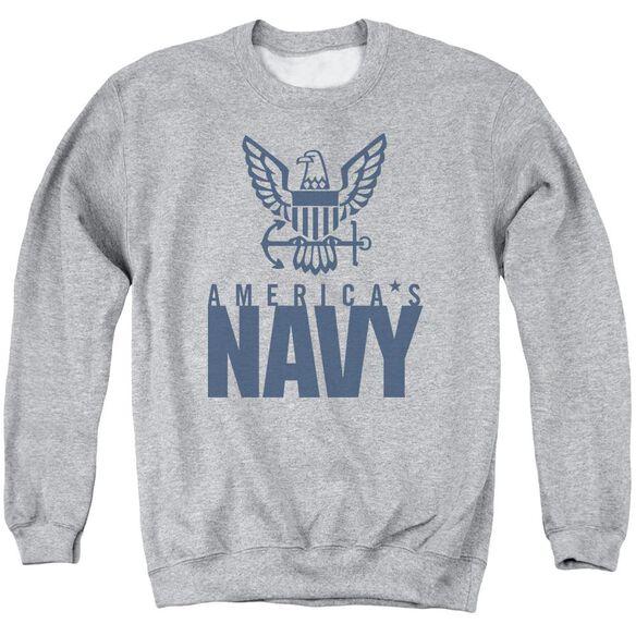 Navy Eagle Logo Adult Crewneck Sweatshirt Athletic