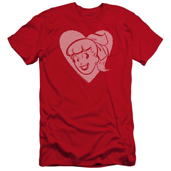 Archie Comics Betty Hearts Premuim Canvas Adult Slim Fit
