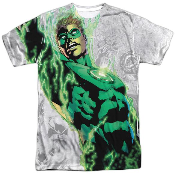 Green Lantern Light Em Up Short Sleeve Adult Poly Crew T-Shirt