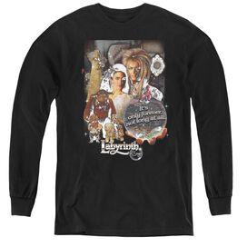 Labyrinth 25 Years Of Magic - Youth Long Sleeve Tee - Black