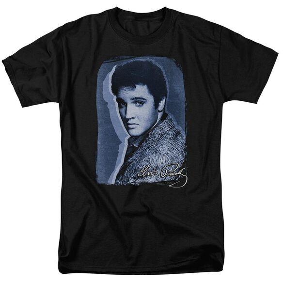 Elvis Overlay Short Sleeve Adult T-Shirt