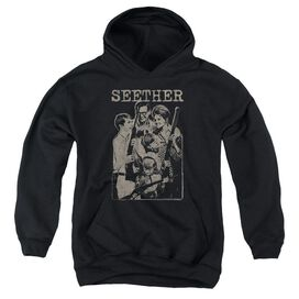 Seether Happy Family Youth Pull Over Hoodie