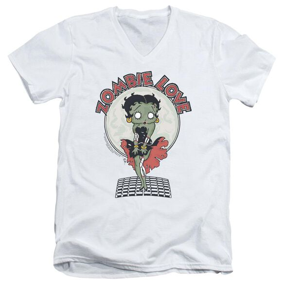 Betty Boop Breezy Zombie Love Short Sleeve Adult V Neck T-Shirt