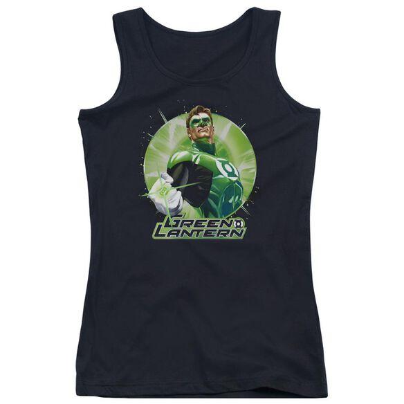 Jla Green Static Juniors Tank Top