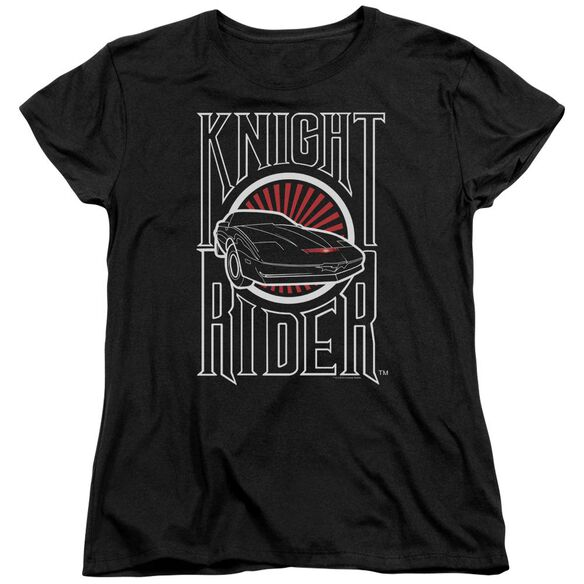 Knight Rider Logo Short Sleeve Womens Tee T-Shirt