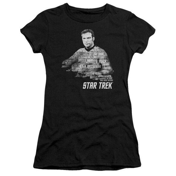 STAR TREK KIRK WORDS - S/S JUNIOR SHEER - BLACK T-Shirt