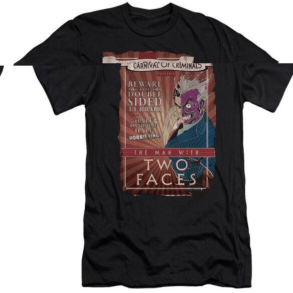 BATMAN TWO FACES - S/S ADULT 30/1 - BLACK T-Shirt