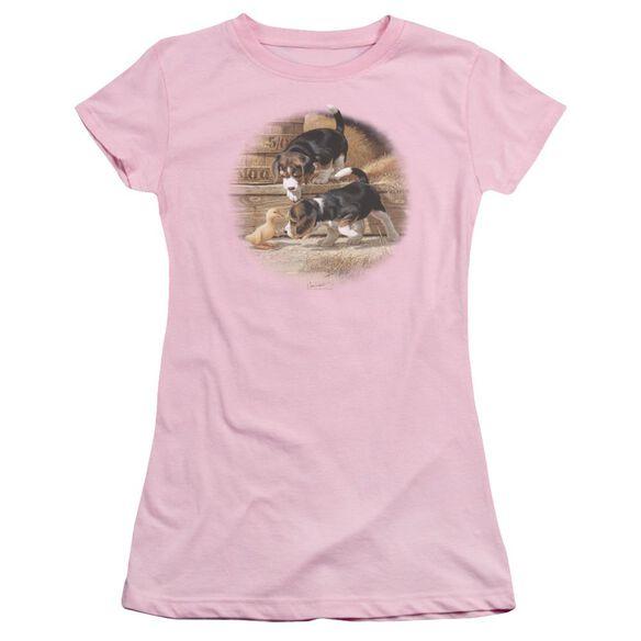 Wildlife Getting Acquainted Short Sleeve Junior Sheer T-Shirt
