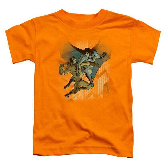 Batman Batman Vs Catman Short Sleeve Toddler Tee Orange Lg T-Shirt