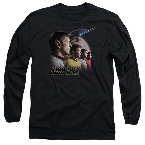 ST ORIGINAL FORWARD TO ADVENTURE - L/S ADULT 18/1 - BLACK T-Shirt