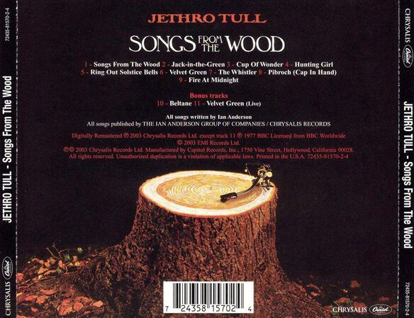 Songs From The Wood (Rmst)