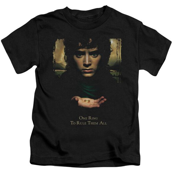 Lor Frodo One Ring Short Sleeve Juvenile Black T-Shirt