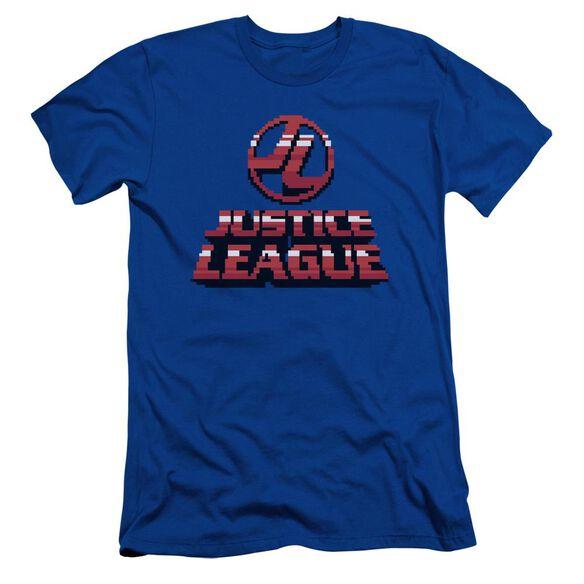 Jla 8 Bit Jla Short Sleeve Adult Royal T-Shirt