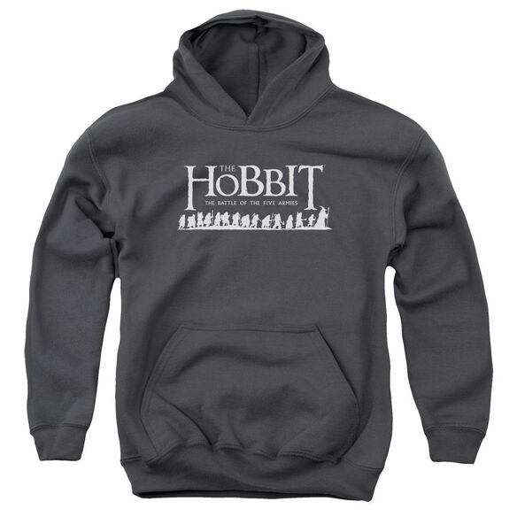 Hobbit Walking Logo Youth Pull Over Hoodie