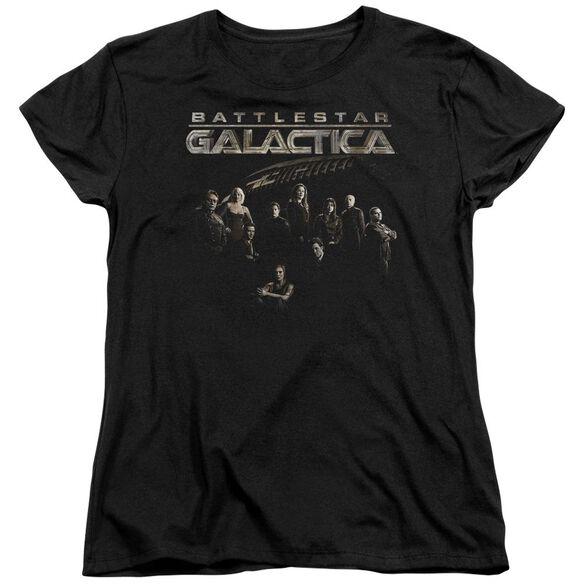 Battlestar Galactica Battle Cast Short Sleeve Womens Tee T-Shirt
