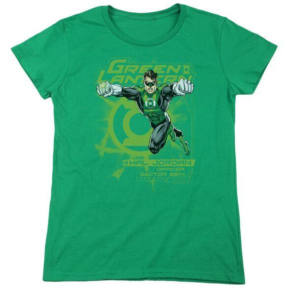 Lantern Sector 2814 Short Sleeve Womens Tee Kelly T-Shirt