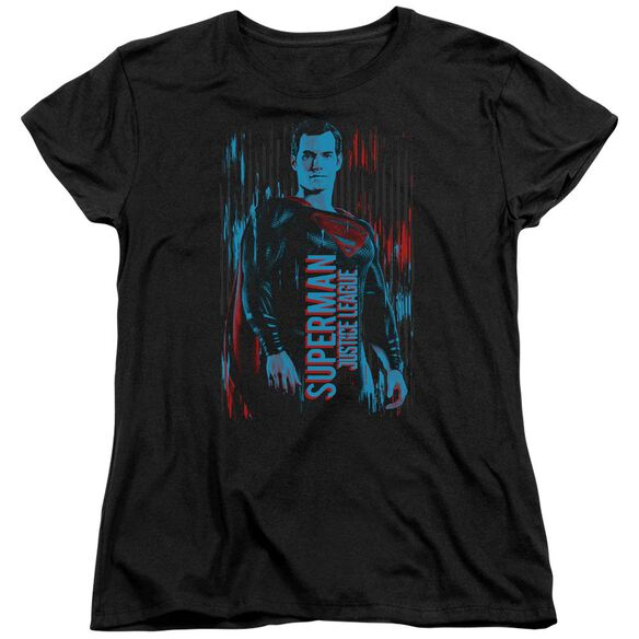 Justice League Movie Superman Short Sleeve Womens Tee T-Shirt