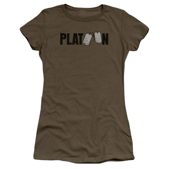 Platoon Logo Premium Bella Junior Sheer Jersey Military