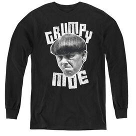 Three Stooges Grumpy Moe - Youth Long Sleeve Tee - Black
