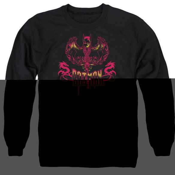 Batman Heart Of Fire Adult Crewneck Sweatshirt