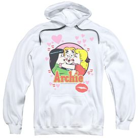 Archie Comics Kisses For Archie Adult Pull Over Hoodie