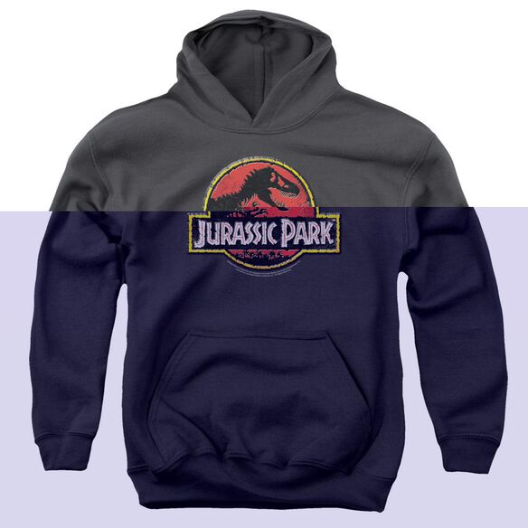 Jurassic Park Stone Logo Youth Pull Over Hoodie