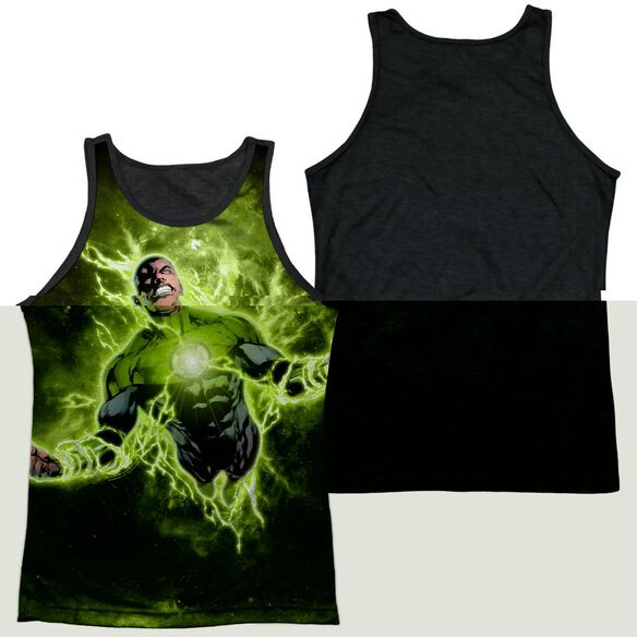 Green Lantern Inner Strength Adult Poly Tank Top Black Back