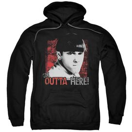 Three Stooges Get Outta Here Adult Pull Over Hoodie