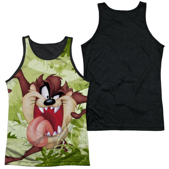Looney Tunes Taz Adult Poly Tank Top Black Back