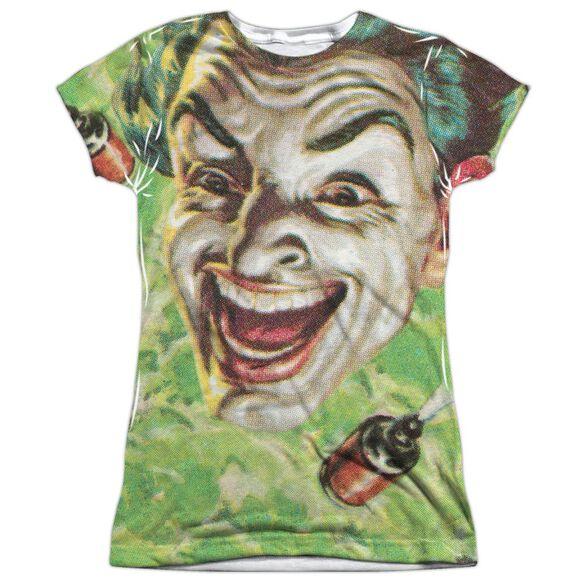 Batman Classic Tv Laugh Gas Short Sleeve Junior Poly Crew T-Shirt