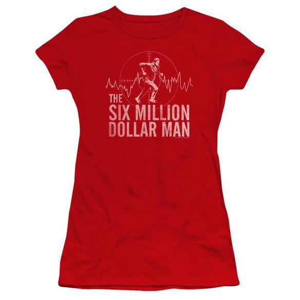 Six Million Dollar Man Target Premium Bella Junior Sheer Jersey