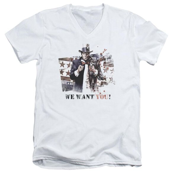 Arkham City We Want You Short Sleeve Adult V Neck T-Shirt