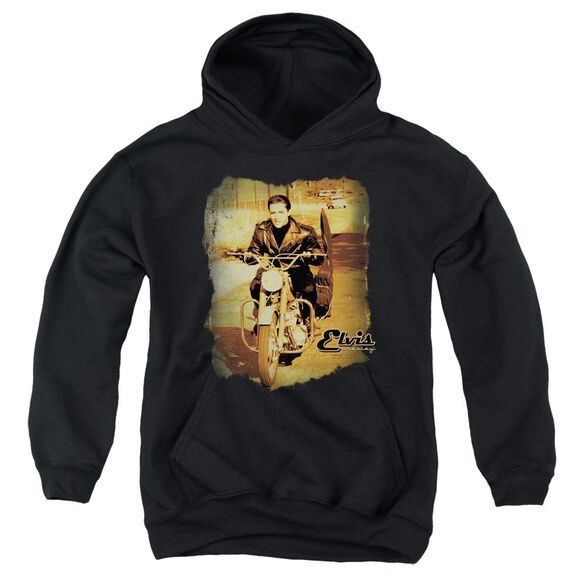 Elvis Hit The Road Youth Pull Over Hoodie