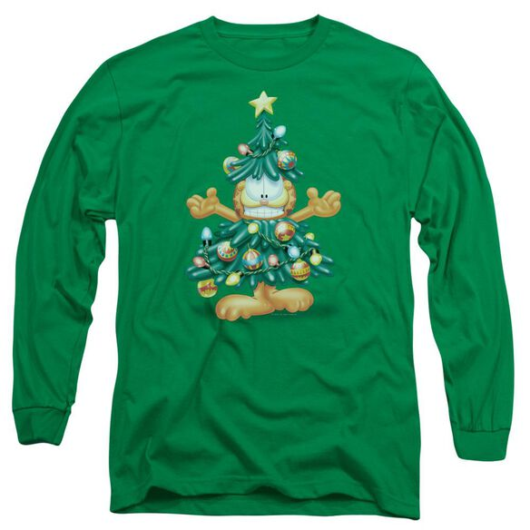 Garfield Tree Long Sleeve Adult Kelly T-Shirt
