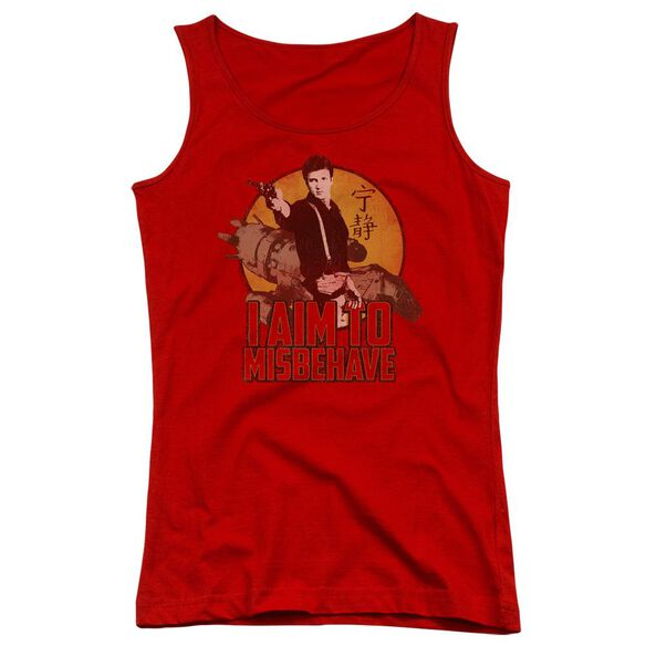 Firefly I Aim To Misbehave Juniors Tank Top