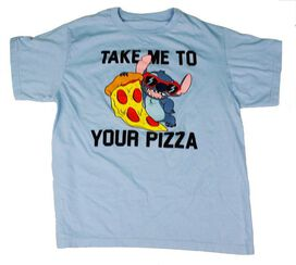 Stitch Take Me To Your Pizza Kids T-Shirt
