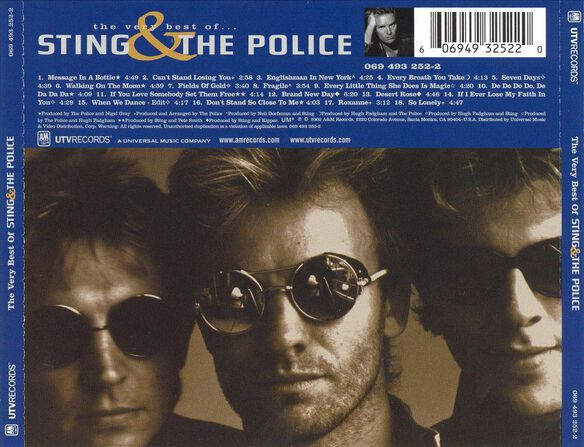 very best of sting amp the police by sting amp the police