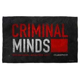 Criminal Minds Logo Bath Towel