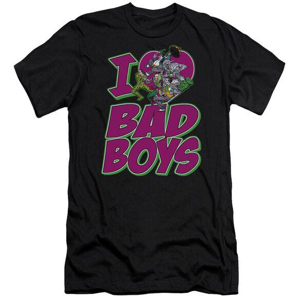 Dc I Heart Bad Boys Premuim Canvas Adult Slim Fit