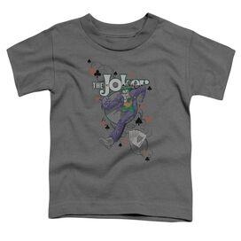 Batman Always A Joker Short Sleeve Toddler Tee Charcoal T-Shirt