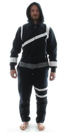 SHIELD Agent Costume Hooded Union Suit