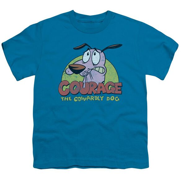 Courage The Cowardly Dog Colorful Courage Short Sleeve Youth T-Shirt