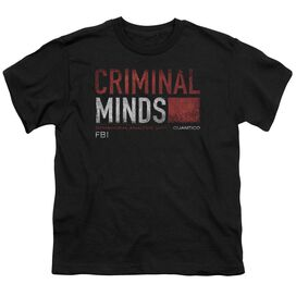 Criminal Minds Title Card Short Sleeve Youth T-Shirt
