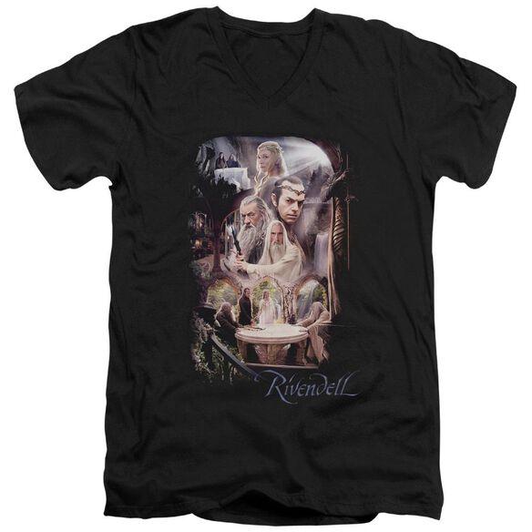 The Hobbit Rivendell Short Sleeve Adult V Neck T-Shirt