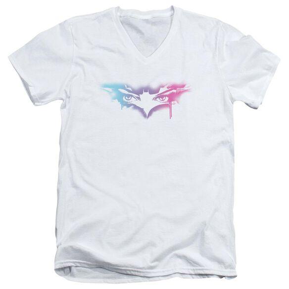 Dark Knight Rises Spray Cat Short Sleeve Adult V Neck T-Shirt