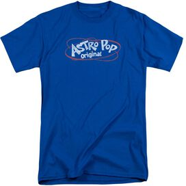 Astro Pop Vintage Logo Short Sleeve Adult Tall Royal T-Shirt